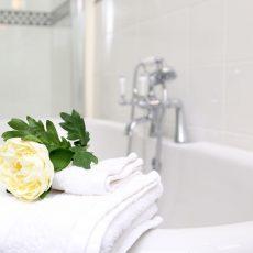 The elegant bathrooms at Bressingham Hall